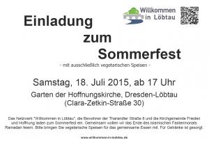 Plakat Sommerfest 2015