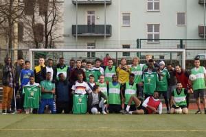 Die Fußballmannschaft von Willkommen in Löbtau