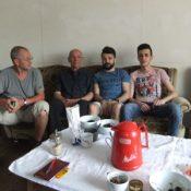 Ausländische Gäste beim Sprachcafé